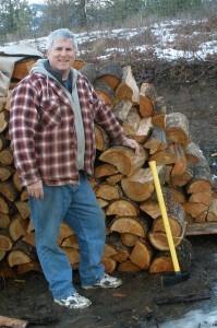 Jim at the Woodpile