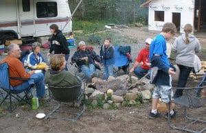 Do You Know Your Neighbors? Friends Around the Campfire