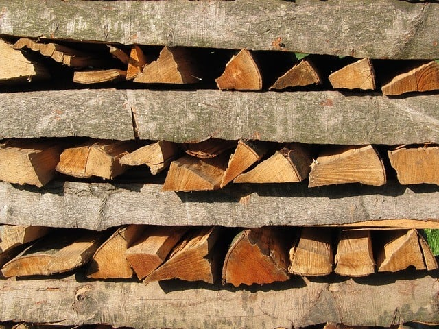 wood pile preparation for food crisis