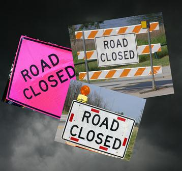 Hurricane Prep, roads closed due to storms and hurricanes