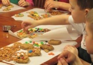 Reindeer cookies with Grammy