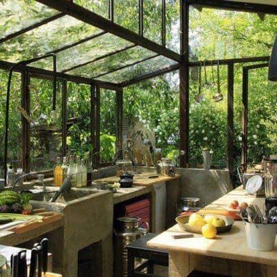 Homestead garden, farm and kitchen