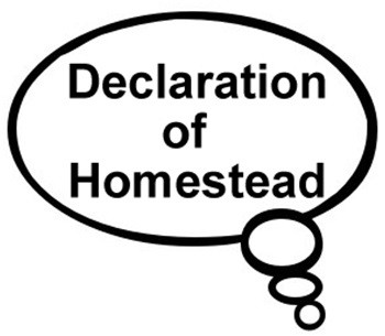 declaration of homestead