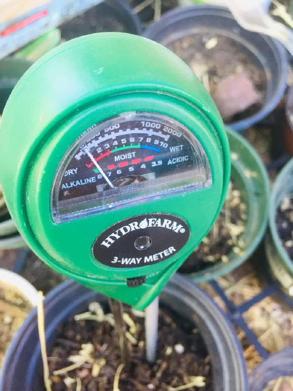 3 way Hydrometer for moisture light pH test