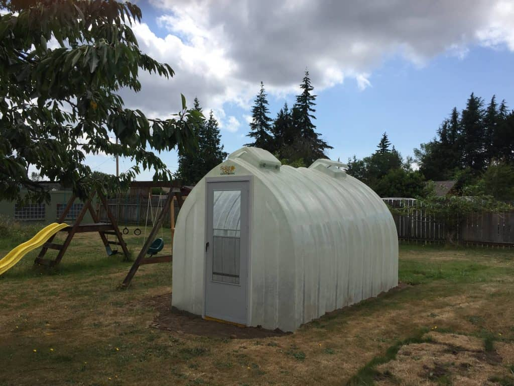 Solar Gem small greenhouses is solar-powered