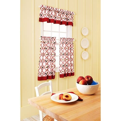 Best Red kitchen curtains