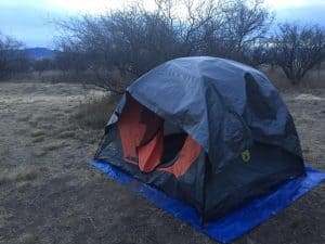 Grizzly Tarp on tent