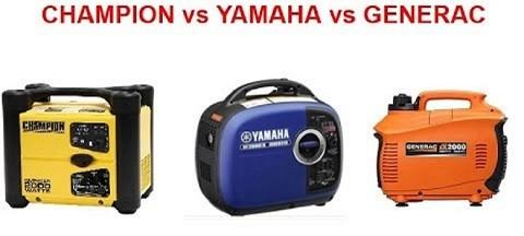 Honda Generator vs Champion Generator vs Yamaha Generator