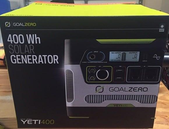 inverter generators vs generator - Goal Zero Yeti Solar Generator Inverter