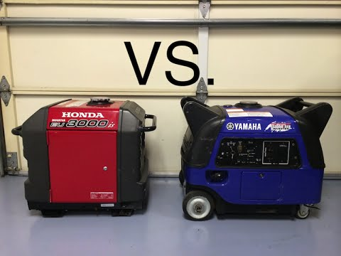 Honda and Yamaha generator