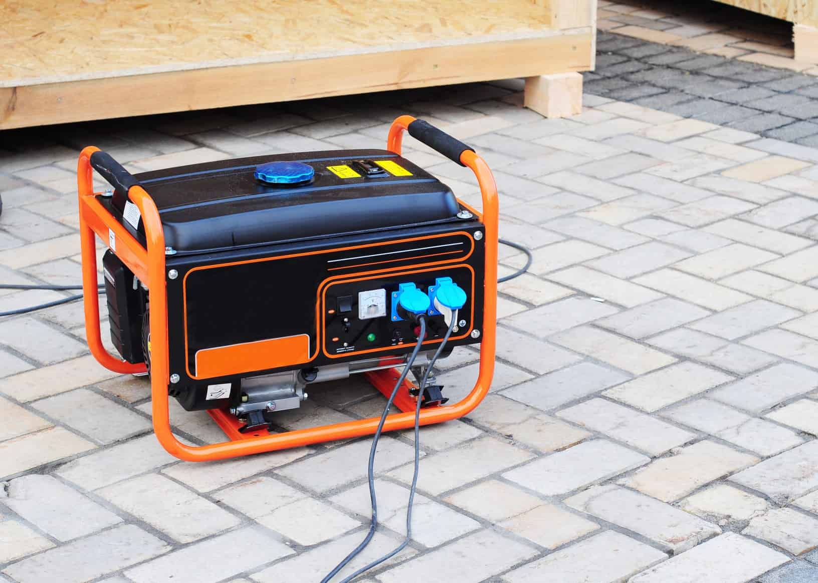 orange outdoor generator