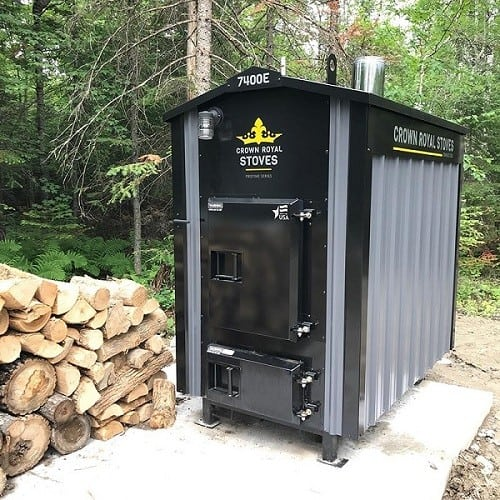 pristine series outdoor wood furnace